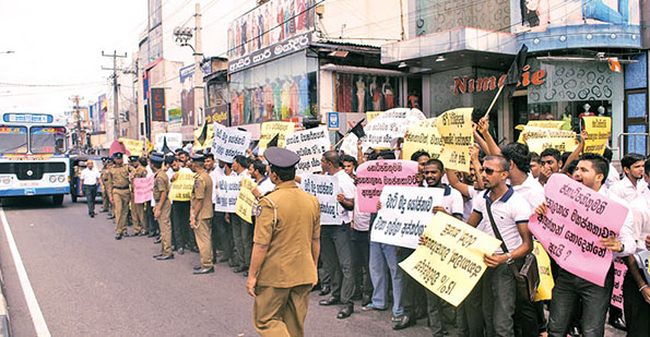 protest on tax in sri lanka