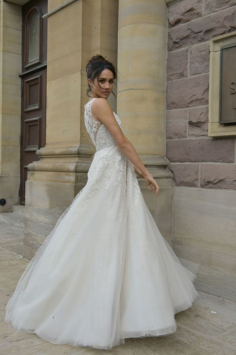 meghan markle wedding dress a